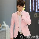 西裝外套 男士西服修身韓版青少年小西裝薄款單件西服外套學生休閒西裝上衣 爾碩