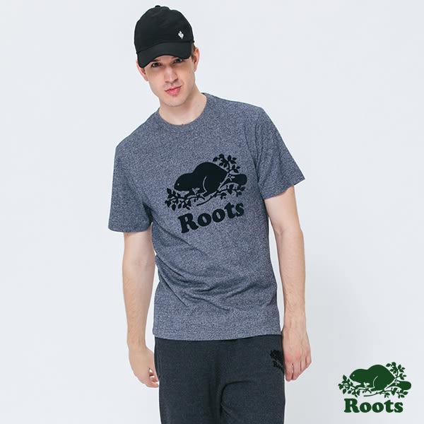 Roots -男裝- ROOTS 庫柏海狸短袖T恤 - 藍色