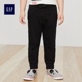 Gap男嬰幼童 基本款純棉鬆緊腰縮口運動褲 215369-雜正黑色