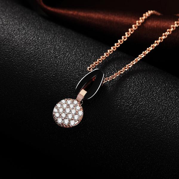 芭比典雅系列 同心圓時尚陶瓷項鍊