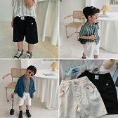 兒童短褲2021夏季新款男童韓版純色棉布短袖寶寶洋氣百搭五分褲潮 幸福第一站