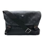 【台中米蘭站】全新品 Louis Vuitton Messenger Voyager 雙釦斜揹包-PM(M40511-黑灰)