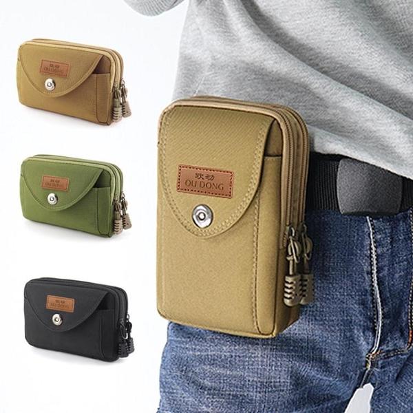 腰包 男士穿皮帶腰包5.5/6寸手機包 多功能橫豎款小包防水耐磨腰掛包