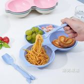 兒童餐具卡通兒小汽車童餐具碗盤叉勺套裝嬰兒防摔輔食寶寶4色 聖誕交換禮物
