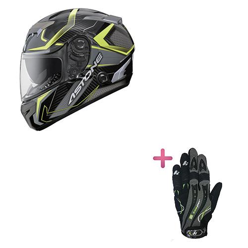 【東門城】ASTONE GTR N55 (平碳纖黃) 全罩式安全帽+KEEPER手套 原價6650