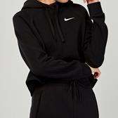Nike AS W NSW MTRL HOODIE 女子 黑色 短版 連帽 長袖 CJ2664-010
