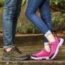 新款男鞋透氣休閑運動鞋情侶鞋戶外登山鞋系帶跑步青年鞋男單鞋春