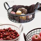 鐵藝水果籃歐式客廳水果盤糖果盤雜物零食收納筐瀝水果盆 【創時代3c館】