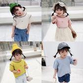 短袖 童裝女童短袖t恤洋氣2019春裝新款兒童打底衫寶寶圓領上衣