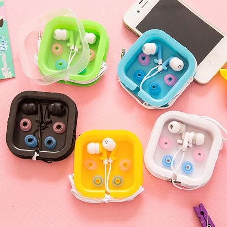 【00027】 方型糖果盒 入耳式耳機 手機 隨身聽 MP3 適用