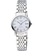 LONGINES 浪琴 Elegant 優雅系列羅馬機械女錶-白/28mm L43104116