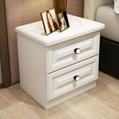 (好康免運)床頭櫃收納儲物簡約現代實木簡易歐式床邊小櫃子迷你臥室宜家北歐xw