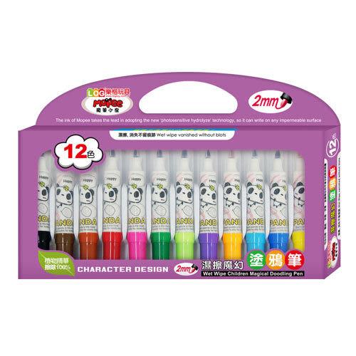 【奇買親子購物網】LOG樂格玩具濕擦魔幻塗鴉筆(12色)