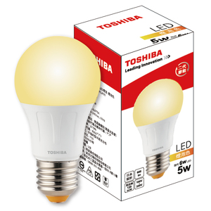 (組)Toshiba 5W廣角LED燈泡(燈泡色)E27-20顆
