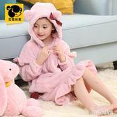 兒童冬季珊瑚絨加厚睡裙中大童睡衣連帽法蘭絨睡袍 QG15062『Bad boy時尚』
