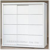 【水晶晶家具/傢俱首選】SY0050-3方格7*7純白ABS封邊鋁飾條三推門衣櫃~~內附拉鏡