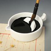 多功能硯台帶蓋陶瓷簡約筆擱毛筆架墨海學生文房四寶墨池帶蓋 免運滿499元88折秒殺