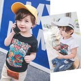寶寶夏裝男童短袖t恤小童上衣夏兒童男 LQ1536『夢幻家居』