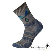 Smartwool 中性PhD 戶外輕量印花中長襪~淺灰~SW001252 美國製|保暖襪