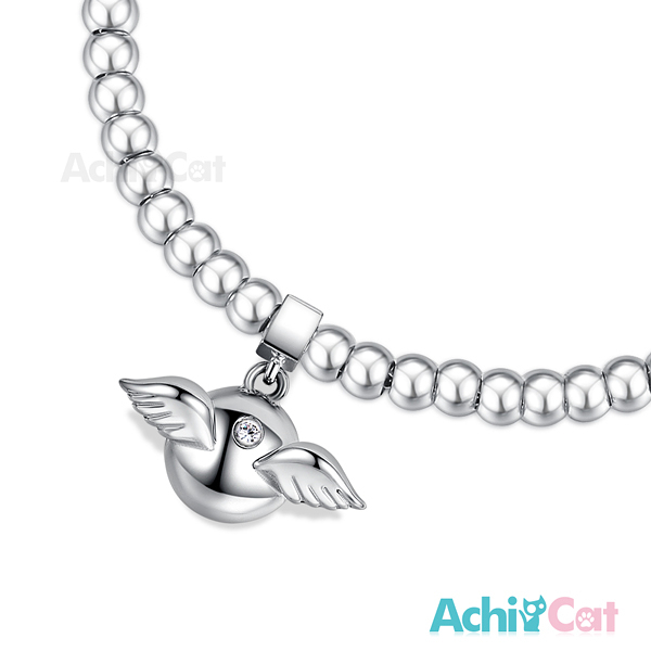 百貨週年慶2020AchiCat圓珠白鋼女手鍊 bead豆豆手鏈珠寶白鋼點滴情懷天使精靈 送刻字 H6032
