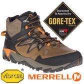 【MERRELL 美國】BLAZE 2男GORE-TEX 高筒多功能健行鞋『棕/橘』12091機能鞋.多功能鞋.登山鞋