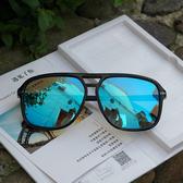 駕駛鏡偏光太陽鏡男女新款時尚百搭潮復古墨鏡個性方框眼鏡