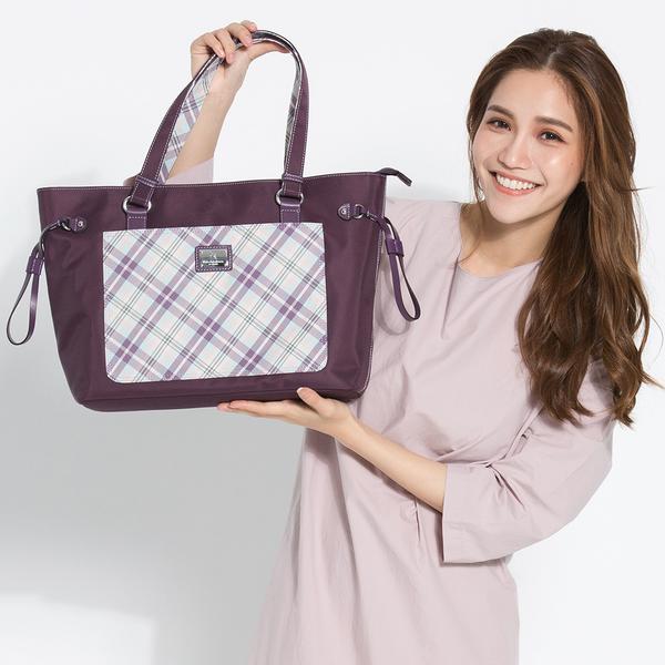 【金安德森】輕。女伶 百搭經典抽繩購物包-蘿蘭紫