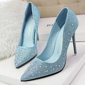 尖頭高跟鞋-性感剔透熟女必備女水晶婚鞋6色73e20【巴黎精品】