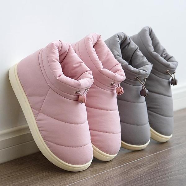 雪地靴 棉拖鞋女包跟室內保暖防滑加絨厚底秋冬季厚底外穿羽絨棉鞋男冬天 8號店