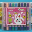 18色旋轉蠟筆 東奇DQ-20018(短型盒裝)/一小盒18色入(促110)-萬