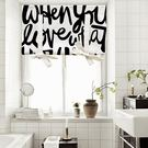 可愛時尚棉麻門簾E277 廚房半簾 咖啡簾 窗幔簾 穿杆簾 風水簾 (85cm寬*120cm高)