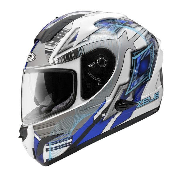 ZEUS 瑞獅安全帽,ZS-806F,II58/白藍