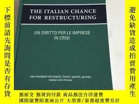 二手書博民逛書店THE罕見ITALIAN CHANCE FOR RESTRUCTURINGY13534 Gluffre Edi