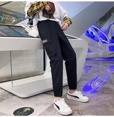 夏裝 新款韓版寬鬆立體工裝直筒褲高腰顯瘦闊腿褲女長褲潮