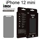 【iMOS】點膠3D手感膜霧面玻璃保護貼 iPhone 12 mini (5.4吋) 聽筒防塵網