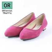 【ORiental TRaffic】舒適百搭尖楦平底鞋-浪漫粉