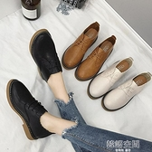 牛津鞋 秋冬季女鞋子2021新款內增高學生百搭韓版英倫加絨ins小皮鞋復古