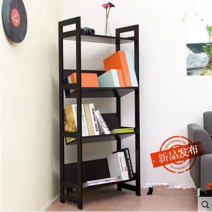 唯妮美客廳牆壁背景牆置物架創意隔板展示架落地拐角儲物架書架子(L型)
