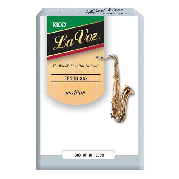 【2.5號次中音薩克斯風竹片】【美國 RICO La Voz】【(10片/盒)】【Medium】【Tenor Sax】