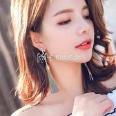 耳環  流蘇耳環925銀耳針女韓國耳飾品百搭個性復古耳墜長款耳釘  瑪奇哈朵