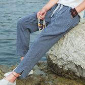 九分褲男士男裝大碼寬鬆休閒運動褲