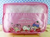 【震撼  】Hello Kitty 凱蒂貓化妝包筆袋扁平化妝包三麗鷗家族旅行用