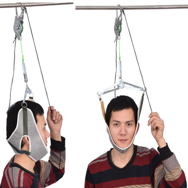 掛鉤式頸椎牽引器架家用吊勁椎拉伸帶椅脖子疼矯正頸部固定護頸托