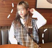 秋季女裝韓版原宿風中長款針織背心學生寬鬆無袖套頭毛衣馬甲外套- 草莓妞妞