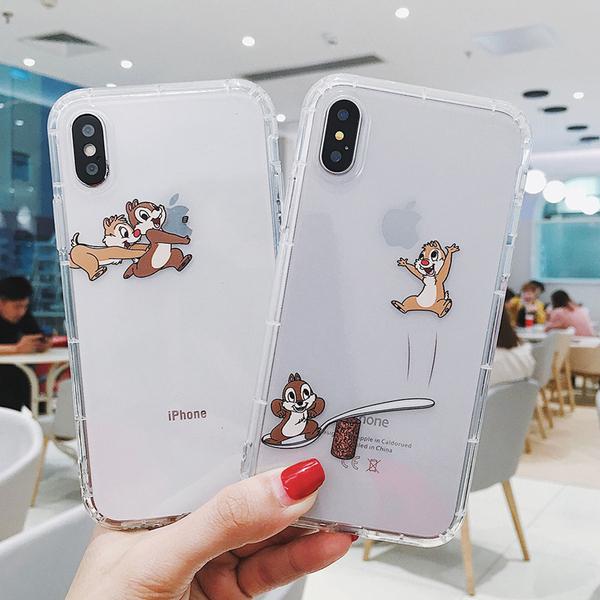 【SZ15】iphone11手機殼 卡通小鬆鼠透明防摔 iphone XS MAX手機殼 XR XS iphone 8plus 7 6s plus手機殼