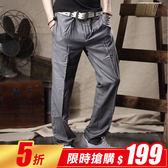 ~韓式作風~~K7701 ~ 極簡風格打摺西裝休閒褲二色