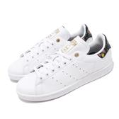 adidas 休閒鞋 Stan Smith W 白 金 女鞋 皮革 花卉圖騰 小白鞋 運動鞋【ACS】 EH2037