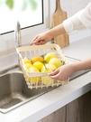 水槽可伸縮碗碟架放碗架瀝水架 家用廚房裝...