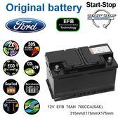 ✚久大電池❚ 福特FORD  原廠電池  EFB  75AH