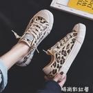 2020豹紋帆布鞋女百搭韓版一腳蹬懶人鞋布鞋ulzzang港風夏季女鞋「時尚彩紅屋」